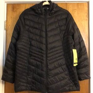 New XERSION Black Puffer Jacket 2X